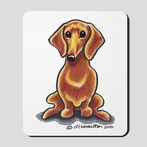 Smooth Red Dachshund Mousepad